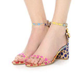 Salvatore Ferragamo Connie Spotted Sandals